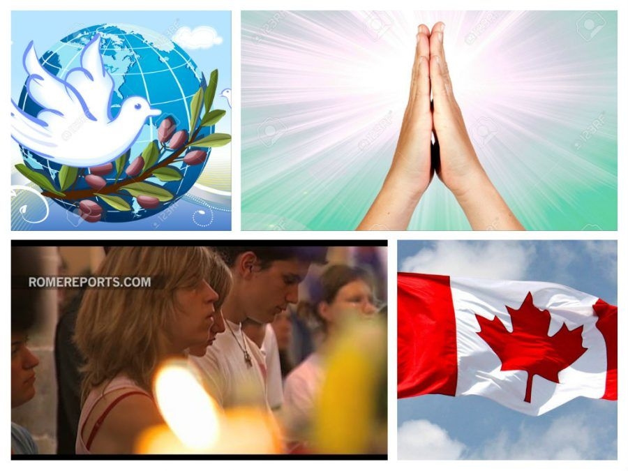 COLLAGE ORACION POR LA PAZ CANADA